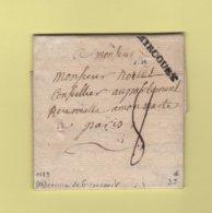 Mirecourt - Vosges - 1789 - Courrier De Gironcourt - Marcophilie (Lettres)
