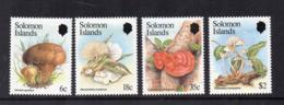 Isole Salomone - 1984 -  Funghi - 4 Valori - Nuovi - Linguellati * - (FDC17088) - Funghi