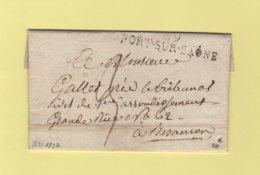 Port Sur Saone - 69 - Haute Saone - 1827 - Marcophilie (Lettres)