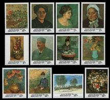 Bhutan 1991 - Mi-Nr. 1432-1443 ** - MNH - Gemälde - Van Gogh - Bhutan