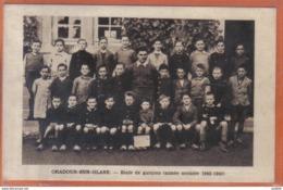 Carte Postale 87. Oradour-sur-Glane  école De Garçons Année 1942-1943   Trés Beau Plan - Oradour Sur Glane