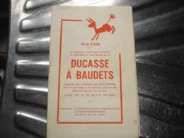 A VOIR !! ATH - DUCASSE A BAUDETS 1964 ( PORTE DE MONS ) - PROGRAMME ( NOMBREUSES PUBS ATHOISE ET REGIONALES ) - Belgio