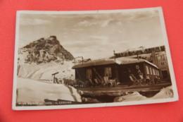 Aosta  Cervino Presso La Stazione Funivia Il Bar Al Plan Maison 1946 + Timbro - Otras Ciudades