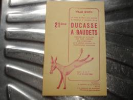A VOIR !! ATH - DUCASSE A BAUDETS 1966 ( PORTE DE MONS ) - PROGRAMME ( NOMBREUSES PUBS ATHOISES ET REGIONALES ) - Belgio