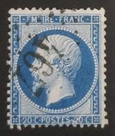 1862-1871 Emperor Napoléon Lll, 20c Bleu, France, Empire Française - 1862 Napoléon III