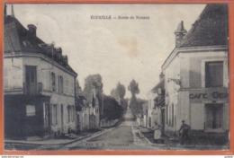 Carte Postale 36. Ecueillé  Route De Nouans   Trés Beau Plan - Otros Municipios