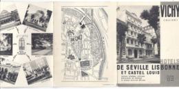 VICHY -HOTELS DE SEVILLE LISBONNE ET CASTEL LUIS - Toeristische Brochures