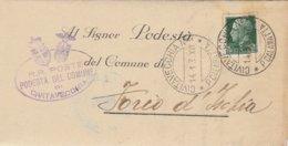 Civitavecchia. 1938. Annullo Guller CIVITAVECCHIA *P CALAMATTA * + Ovale PODESTA' DEL COMUNE , Su Lettera Con Testo - Marcofilía