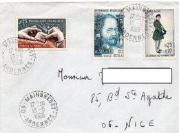 LSC 1968 - Cachet Perlé - MAINBRESSY (Ardennes) Sur YT 1477 & YT 1511 & YT 1516 - Storia Postale