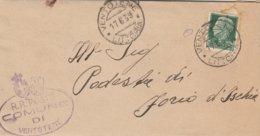 Ventotene. 1939. Annullo Guller VENTOTENE *LITTORIA* + Ovale COMUNE DI VENTOTENE, Su Lettera Con Testo - 1900-44 Victor Emmanuel III