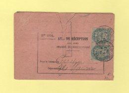 Type Blanc - Avis De Reception Destination Ile Maurice - 1906 - Rare - Storia Postale