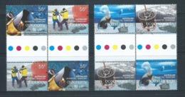 Australian Antarctic Territory 2008 International Polar Year Set Of 4 X 2 As Se Tenant Gutter Blocks MNH - Unused Stamps