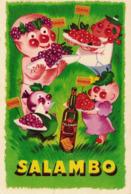 CP - SALAMBO - Le Raisin, Le Cassis,la Framboise Et La Cerise (BARDINET) - Publicité