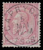 """COB N°46 - Oblitération """"CONCOURS"""" - CAPRYCK - 1884-1891 Leopold II."""