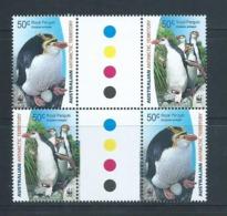 Australian Antarctic Territory 2007 50c Royal Penguins  Se Tenant Gutter Block Of 4 MNH - Unused Stamps