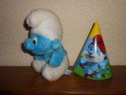 SCHTROUMPFS :  Veritable Schtroumpf  Peyo  20 Cm De 1998  + Offert 1 Chapeau Carton - Cuddly Toys