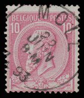 "COB N°46 - Belle Oblitération ""MOLL"" - 1884-1891 Léopold II"