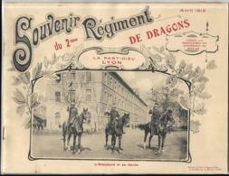MILITAIRE - Souvenir Du 2me REGIMENT DE DRAGONS - AVRIL 1912 - LA PART-DIEU LYON - Régiments