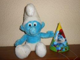 SCHTROUMPFS :  Veritable Schtroumpf  Peyo  25 Cm De 1979  + Offert 1 Chapeau Carton - Cuddly Toys