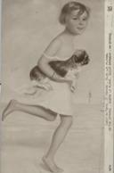 1925 , TARJETA POSTAL CIRCULADA , ARTE , PINTURA , PAINTINGS , G. HERVÉ - SUR LA PLAGE , SOBRE LA PLAYA - Pintura & Cuadros