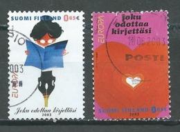 Finlande YT N°1621/1622 Europa 2003 Art De L'affiche Oblitéré ° - Europa-CEPT