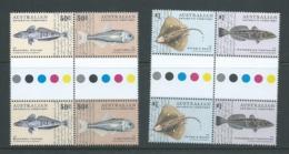 Australian Antarctic Territory 2006 Fish Set Of 2 Pairs X 2 As Gutter Blocks Of 4 MNH - Unused Stamps