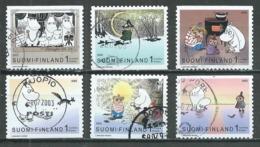 Finlande YT N°1615/1620 Les Moumines Oblitéré ° - Finlande