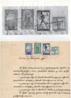 24.12.1919. KINGDOM OF SHS, ZEMUN, CHAIN BREAKERS, VERIGARI,POSTAL STAMPS AS REVENUE, ERROR 2KR LETTER B, 50, 25 AND 15 - 1919-1929 Kingdom Of Serbs, Croats And Slovenes