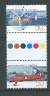 Australian Antarctic Territory 2005 Aviation / Aircraft 50c Gutter Pair MNH - Unused Stamps
