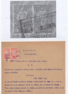 27.10.1919. KINGDOM OF SHS, ZEMUN, CHAIN BREAKERS, VERIGARI,POSTAL STAMPS AS REVENUE, ERROR ON THE FIRST 1KR STAMP - 1919-1929 Kingdom Of Serbs, Croats And Slovenes