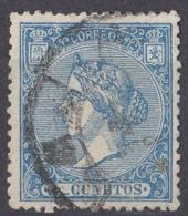 ESPAÑA - SPAGNA - SPAIN - ESPAGNE - 1866 -  Yvert 80 Usato. - Gebraucht