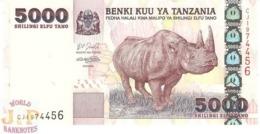 TANZANIA 5.000 SHILINGI 2003 PICK 38 UNC - Tanzania