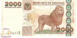 TANZANIA 2.000 SHILINGI 2003 PICK 37 UNC - Tanzania