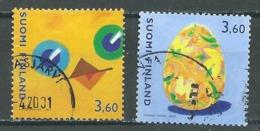 Finlande YT N°1526/1527 Pâques 2001 Oblitéré ° - Finlande