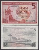 Iceland - Island 5 Kroner 1957 Pick 37b VF- (3-)   (25227 - Iceland