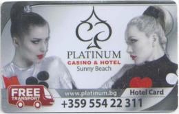 BULGARIA  KEY  HOTEL Platinum Casino & Hotel Sunny Beach - Cartes D'hotel