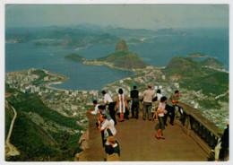 RIO  DE  JANEIRO   VISTA  DO  ALTO  DO  CORCOVADO          (VIAGGIATA) - Rio De Janeiro