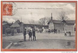 Carte Postale 21. Dijon  Pont Du Chemin De Fer  Quartier De L'Abattoir    Trés Beau Plan - Dijon