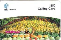 JAMAICA - Fruits, Cable & Wireless Prepaid Card J$50, Used - Jamaica
