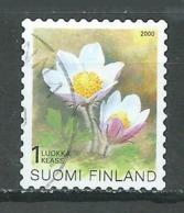 Finlande YT N°1511 Anémone Sauvage Oblitéré ° - Finlande