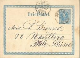 PK  Zwolle - Basel            1878 - Postal Stationery