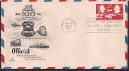 USA - 1947 - FDC - 100 International Philatelic Exhibition - 1941-1950