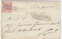 """Napoli, 2 Gr. N.5c Da Salerno X Napoli """"PER LA FERROVIA"""" 24 Marzo 1858 - Naples"""