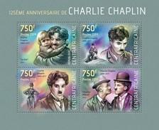 CENTRAFRICAINE 2014 SHEET CHARLIE CHAPLIN CINEMA ACTORS Ca14109a - República Centroafricana