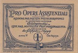ITALIA - 1927 - Erinnofili, Blocchetto Con 10 Esemplari Nuovi (vedere Descrizione) - 1900-44 Victor Emmanuel III