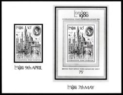 "GREAT BRITAIN 1980 ""London 1980"" Stamp Exhibition: STAMP PRESS RELEASE & Stamps UM/MNH - 1952-.... (Elisabeth II.)"