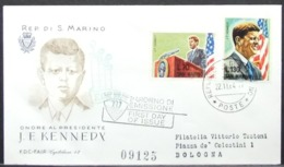 San Marino - Circulated FDC Cover To Italy 1964 Kennedy - Kennedy (John F.)