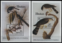 Bhutan 1985 - Mi-Nr. Block 123-124 A ** - MNH - Vögel / Birds - Audubon - Bhutan
