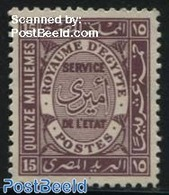 Egypt (kingdom) 1926 15M,  On Service, Stamp Out Of Set, (Mint NH), Stamps - Egypt