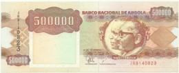 Angola - 500 000 Kwanzas - 04.02.1991 - Pick 134 -Sign. 19-Série JR - José Eduardo Dos Santos E Agostinho Neto 500000 - Angola